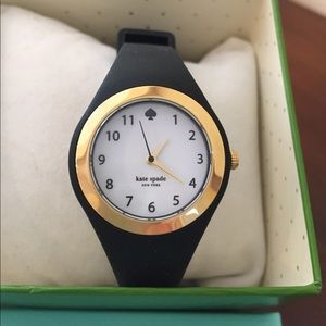 Kate Spade black watch with gold detail